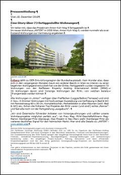Pressegtext Fertigstellung Anton-Kuh-Weg 5