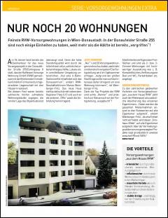 Bericht aus dem Immokurier zur Gleichenfeier Doningasse 8, 1220 Wien - nur noch 20 Wohnungen verfügbar