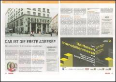 Artikel aus dem Immokurier zur Raiffeisen Immobilienmesse im Looshaus am 12. April 2018