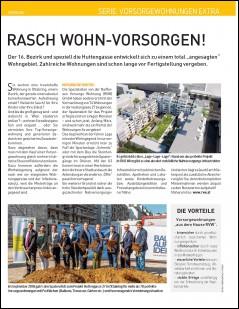 Rasch Wohn-Vorsorgen, Spatensticdh Huttengasse 27 / Zwinsstraße 1, 1160 Wien