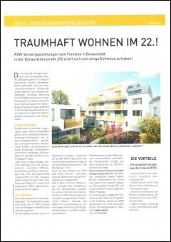 Artikel aus dem Immokurier zur Dachgleichenfeier des Projekts Donaufelderstraße 255, 1220 Wien.